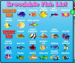 List of Breedable Fish
